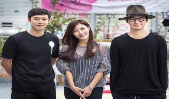HA Ji-won and CHEN Bolin Filming New China-Korea Co-Production