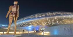 Futuristic buildings in South Korea